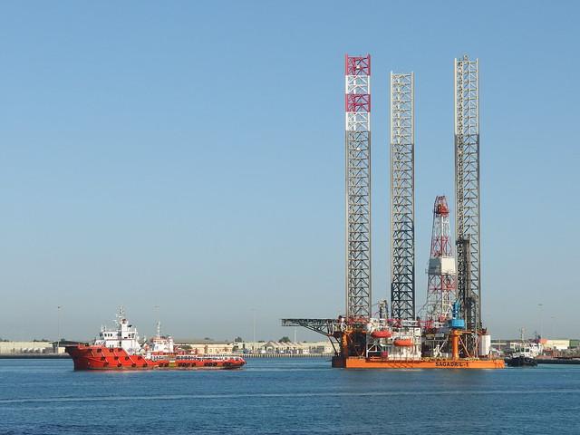 """""""Sagadril-1"""" Oil rig @ Corniche @ Abu Dhabi"""