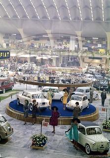 Fiat 600 in esposizione