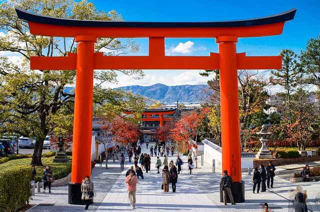 the torii gate ��� of fushimi inari taisha ���������� in