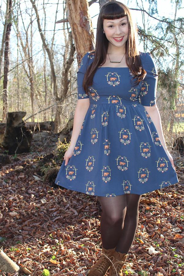 bear print dress