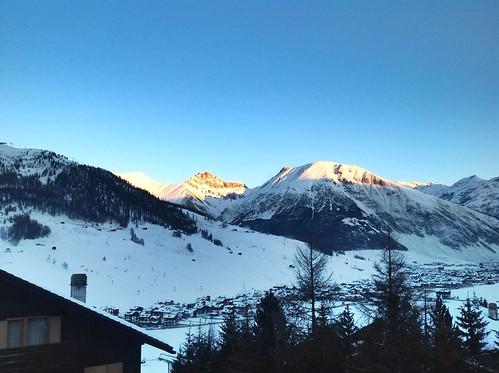 winter sky italy sun snow apple sunrise italia alba neve alpi livigno apps ipad hotelloredana