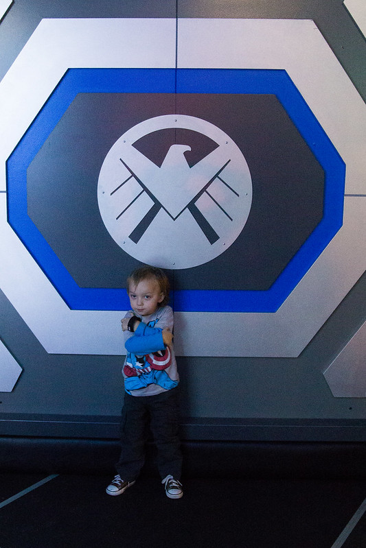 Toddler Nick Fury Impression The Marvel Experience in Dallas
