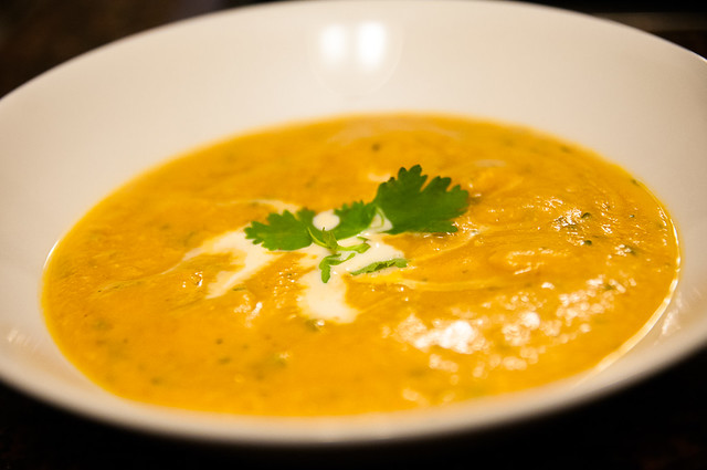 Thai Red Curry Lentil-Pumpkin Soup