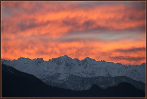 tramonto alpi orobie