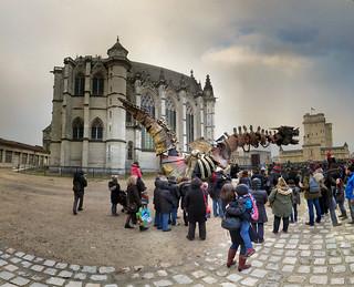 Château de Vincennes の画像. panorama france les children de dragon crowd cobblestones ciel enfants foule noël château ptassembler saintechapelle vincennes pavés caste enchanteurs multiblend