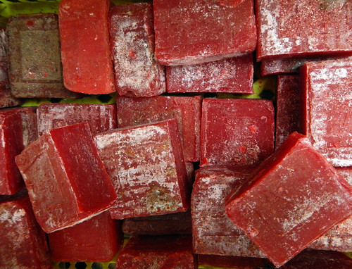 Red Soap for Sale at the Inle Lake Market (Myanmar)