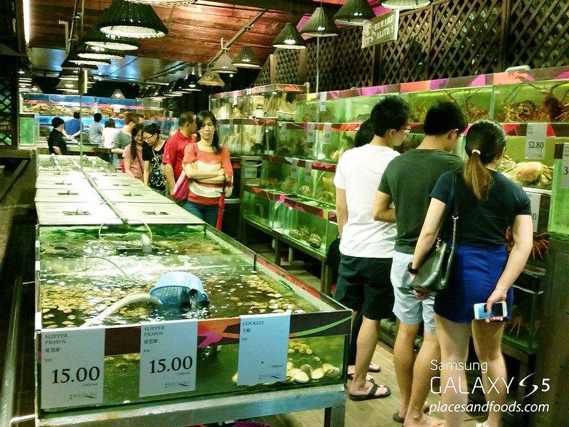 south sea seafood restaurant aqua tanks