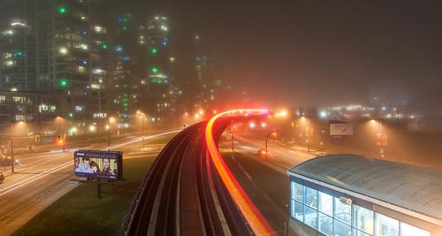 Skytrain, foggy