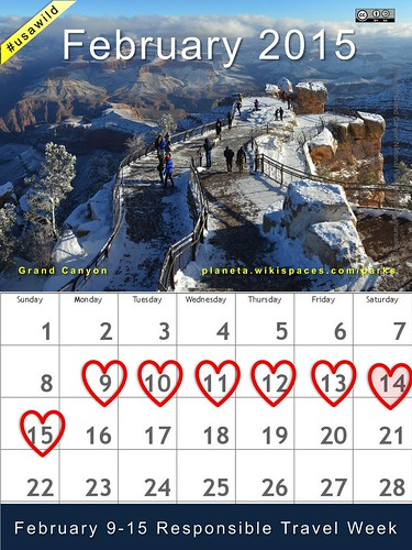 February 2015 National Parks Calendar: Grand Canyon #usawild #rtweek15 (attribution-sharealike license) @GrandCanyonNPS