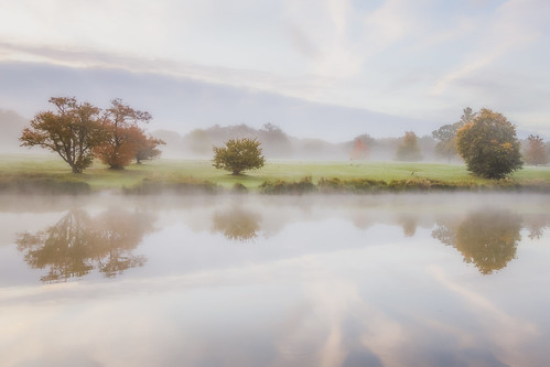 morning autumn trees mist lake reflection nature water beautiful fog sunrise canon landscape dawn countryside soft northamptonshire scenic ethereal 5d autumnal atmospheric corby beautyinnature 24105mm