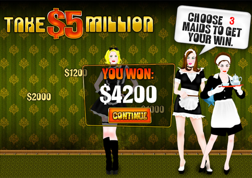 free Take 5 Million Dollars bonus game win