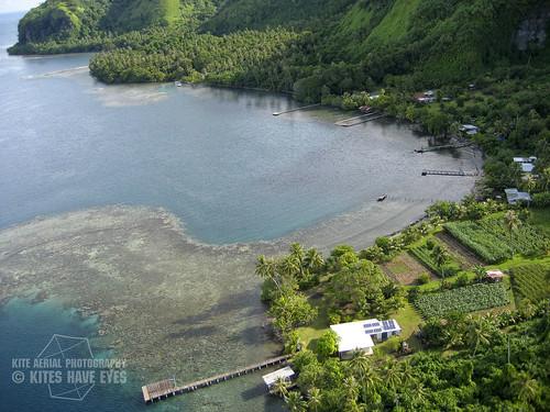 kite photography polynesia boat photo lagoon aerial tahiti kap aérienne lagon polynésie tautira fenua aihere