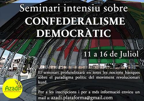 Seminari sobre Confederalisme Democràtic de l'11 al 16 de juliol a Manresa
