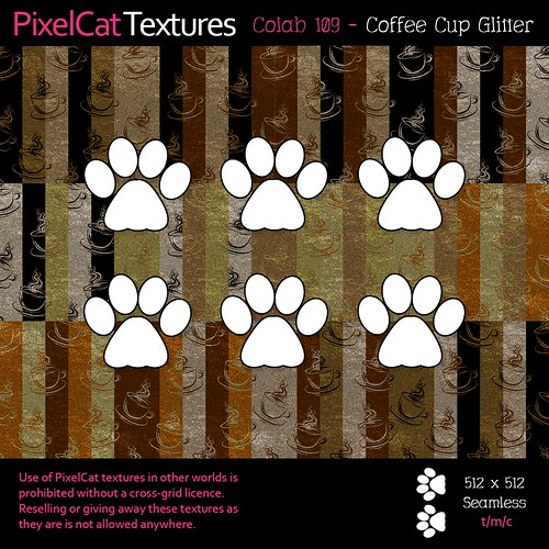 PixelCat Textures - Colab 109 - Coffee Cup Glitter