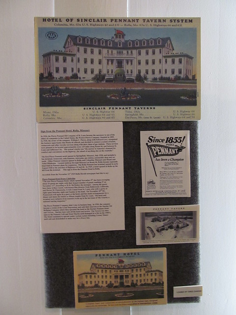 Sinclair Pennant Hotel and Tavern, display at Missouri Route 66 State Park Visitor's Center