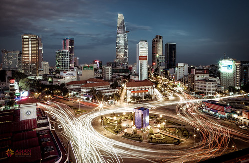 city asian asia southeastasia cityscape traffic vietnam hcmc