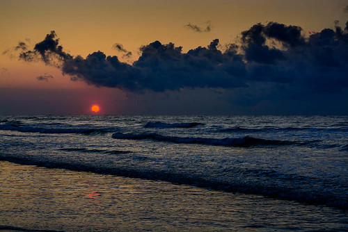 ocean sky sun beach clouds sunrise myrtlebeach colorful unitedstates southcarolina july shore atlanticocean 2014