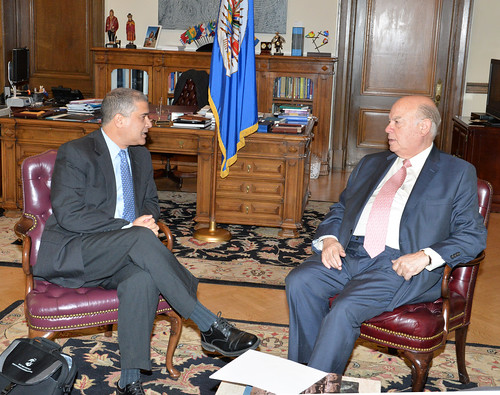 OAS Secretary General Met with the Director of the Training Department of Israel's Agency for International Development Cooperation