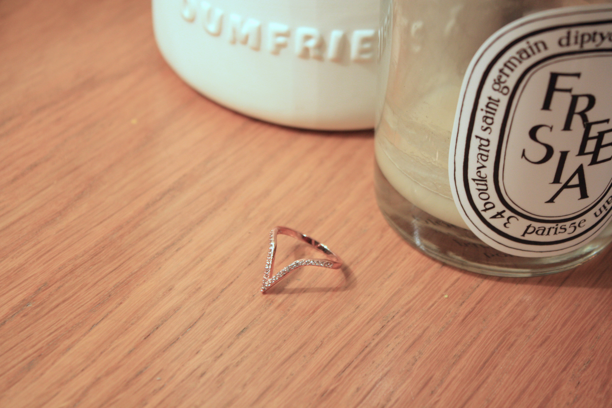 alex mika rose gold ring