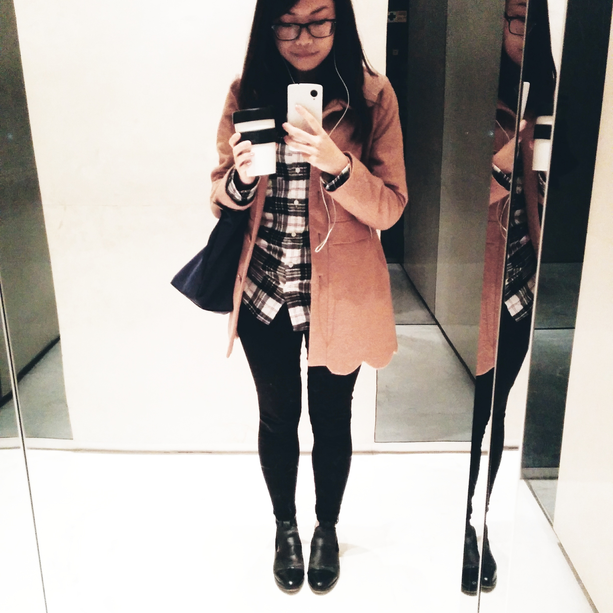 Daisybutter - Hong Kong Lifestyle and Fashion Blog: fashion blogger, how to style a camel coat, how to wear a flannel shirt