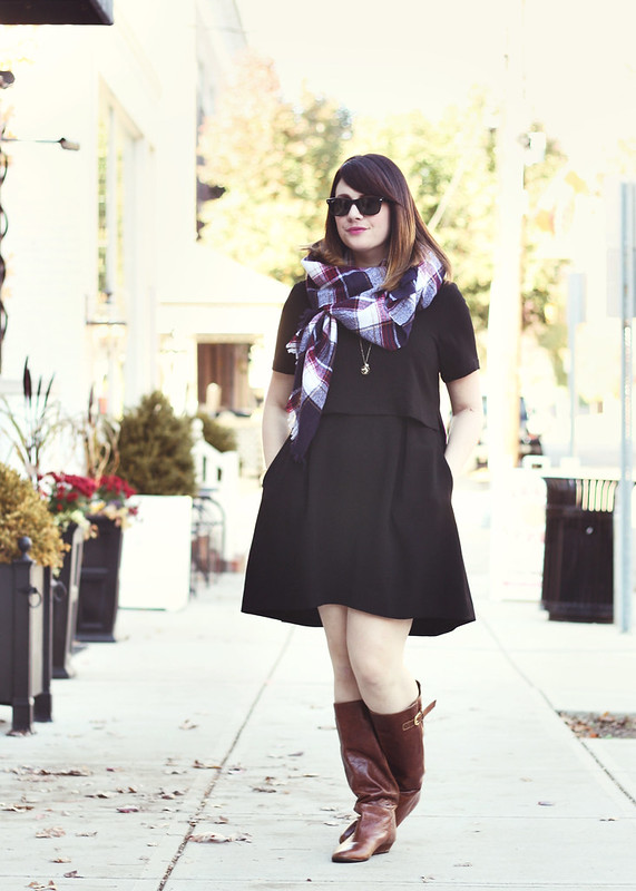 Madewell Dress + Scarf
