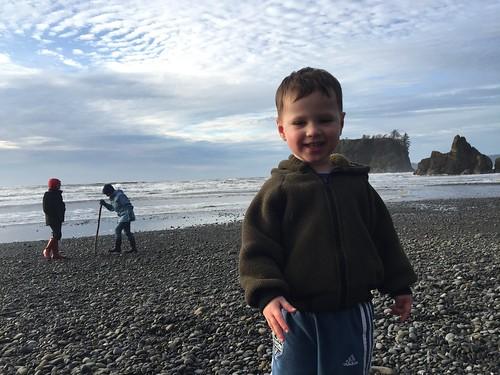 Franklin on Ruby Beach