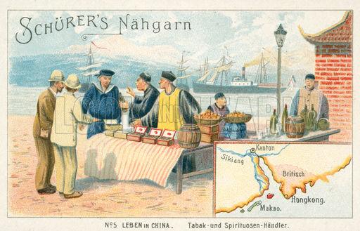 Tobacco and sprits merchant, China