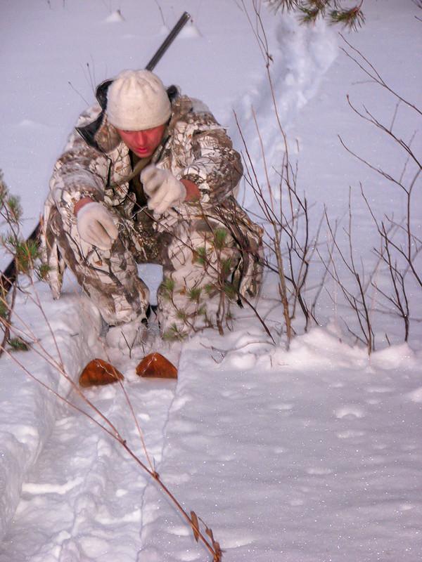 ловля зайцев петлями фото