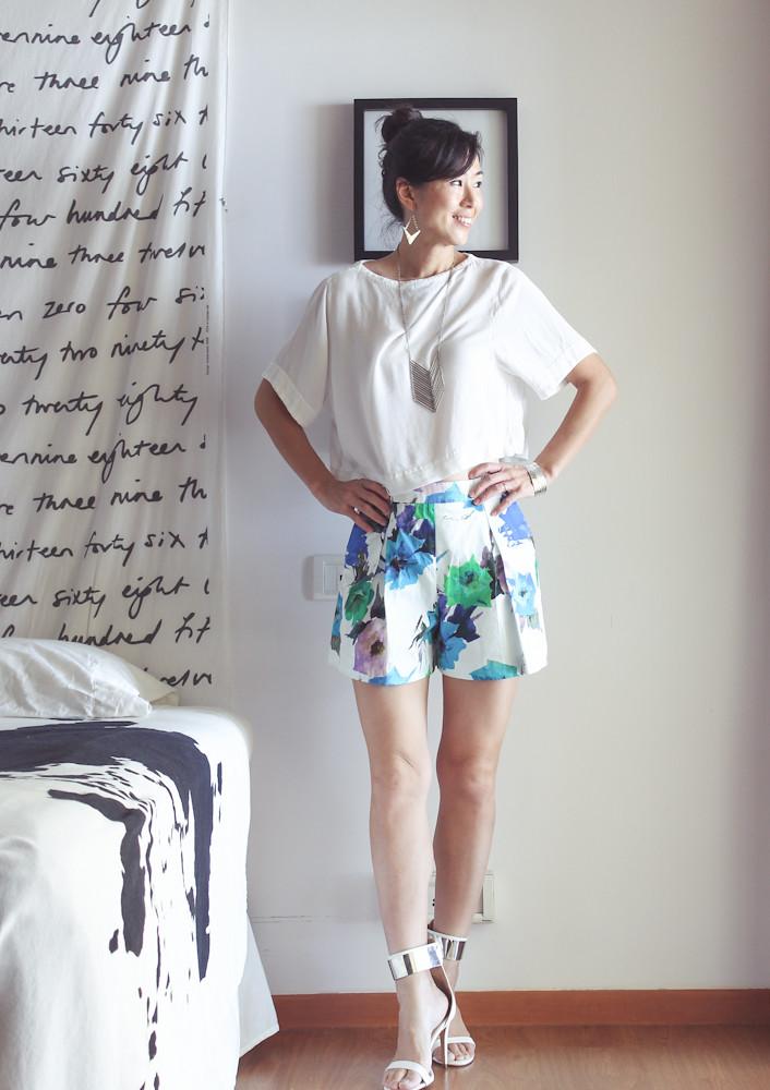 Zara Flower Print Shorts-7