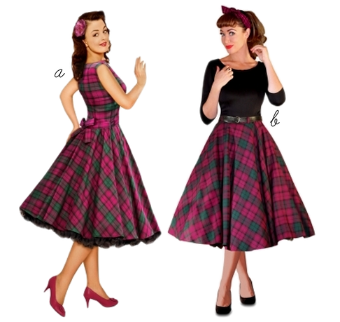 british retro dress