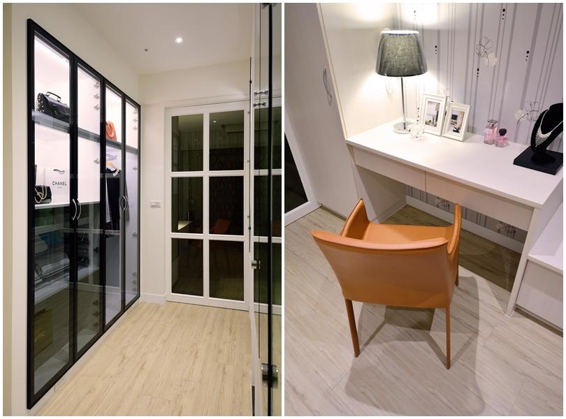 【住宅設計】林口冠東方黃公館-美式簡約居家風-更衣室