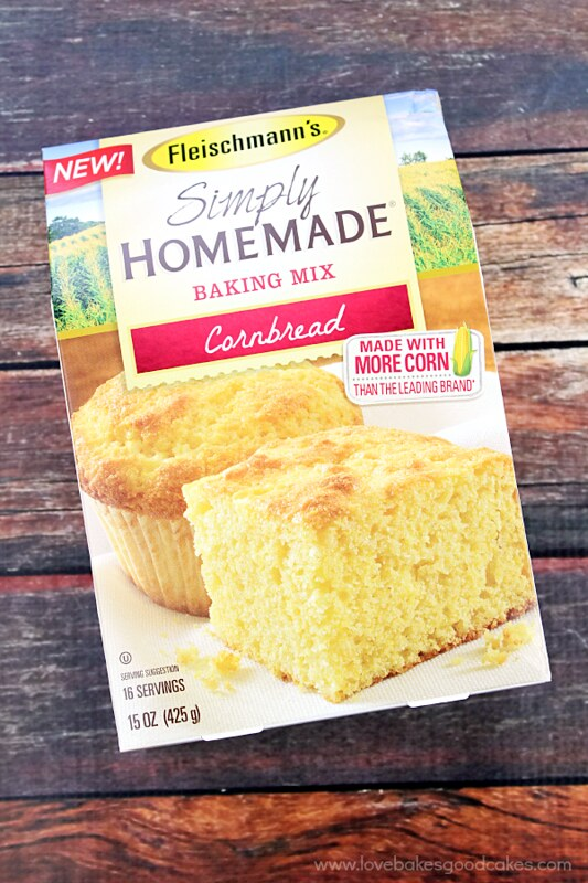 A box of Simply Homeade baking mix cornbread.