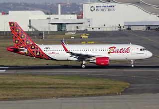 20 novembre 2014 - BATIK  AIR - Airbus  A 320 WL  F-WWIK  msn 6372 - LFBO - TLS