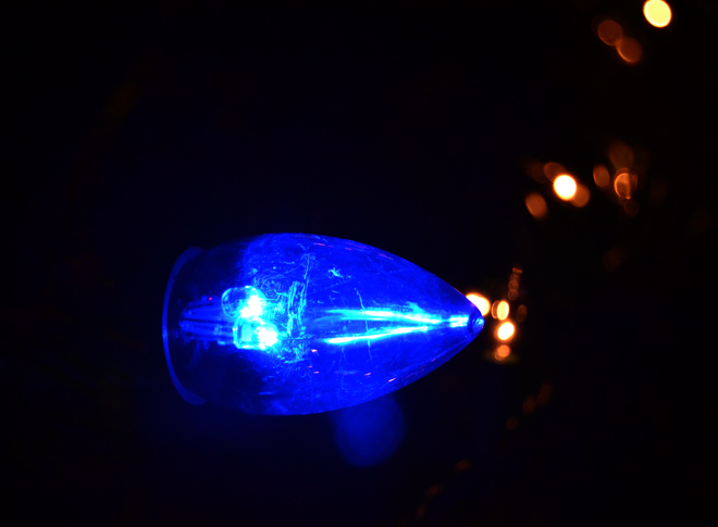 The Flying Clubhouse: Blue Christmas Light