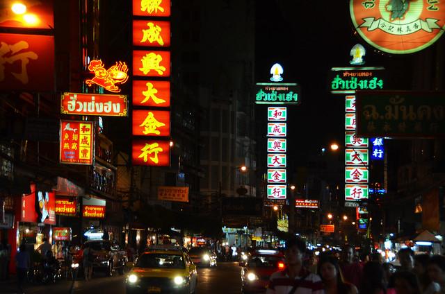 Calles de chinatown en Bangkok