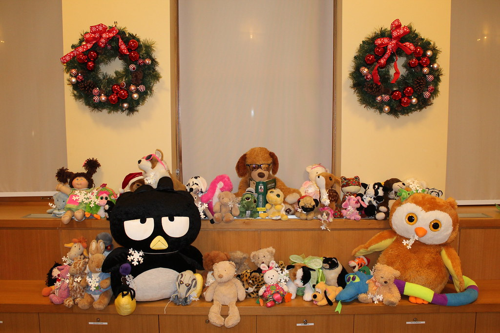 Stuffed animals having a party!