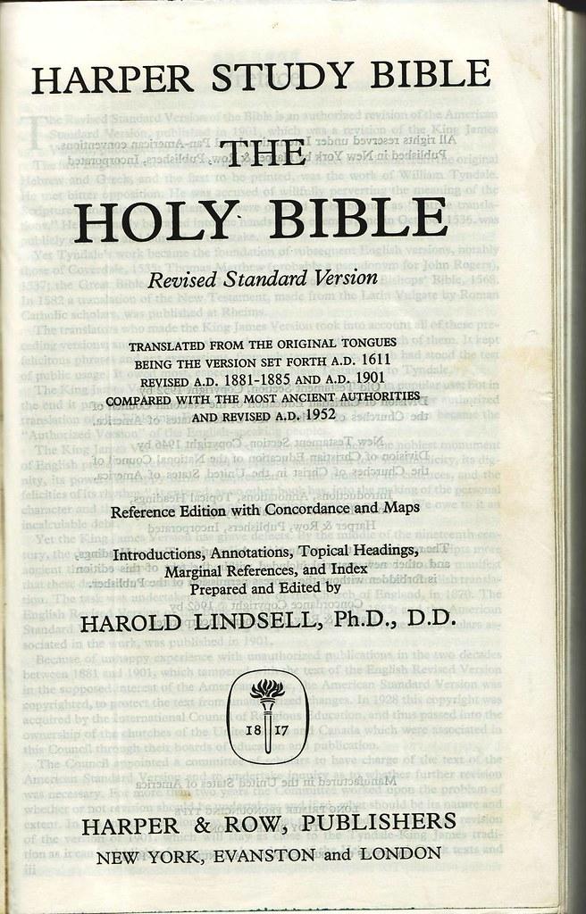 Revised Standard Version Rsv Internet Bible Catalog