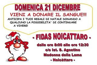 Noicattaro. Donazione Fidas 21 Dicembre