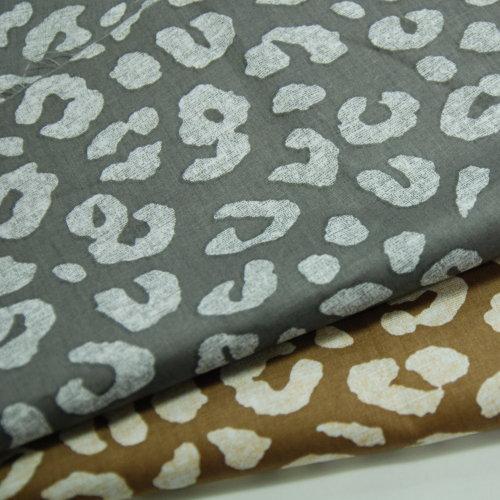 豹紋印 精梳棉床品床單布料 CA490301