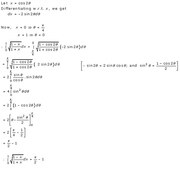 RD Sharma Class 12 Solutions Chapter 20 Definite Integrals Ex 20.2 Q37