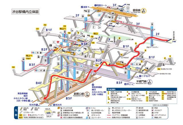 渋谷駅立体図
