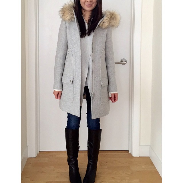 3 layers of grey yesterday ❄️// @liketoknow.it www.liketk.it/Ks3G #liketkit #toasty #jcrew #loveLOFT
