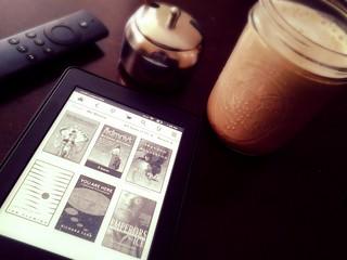 Kindle and coffee