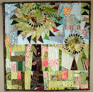 Curvy Geese Trees Quilt for Project QUILTING