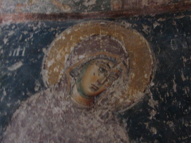 Detail, Virgin fresco, Pavlica Monastery, 13th century