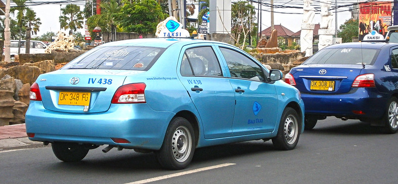 Facts about Bali: Blue Bird taxi in Bali, Indonesia