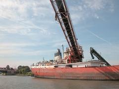 crane vessel (floating), vehicle, ship, construction equipment, watercraft,