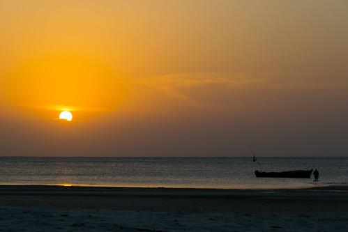 africa sunset sea sun tanzania golden boat sand bank zanzibar