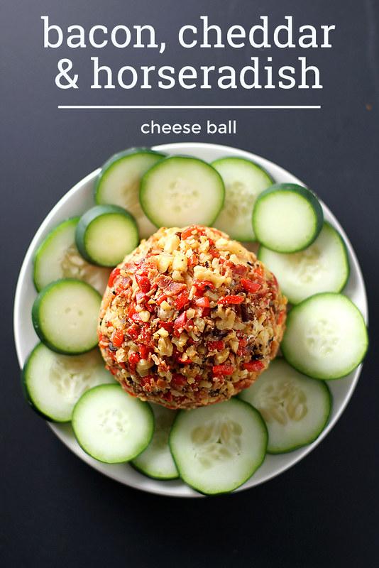 Bacon, Cheddar and Horseradish Cheese Ball | girlversusdough.com @stephmwise