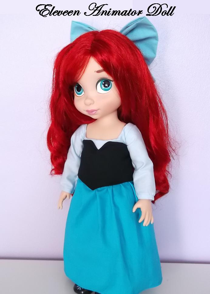 Belle animator robe bleue